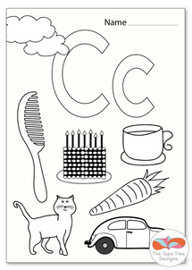 Letter C Activities for Preschool THE TYPE TREE DESIGNS