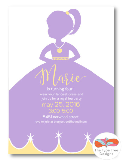 princess birthday, diy printable invitation, girl birthday invitation, first year birthday