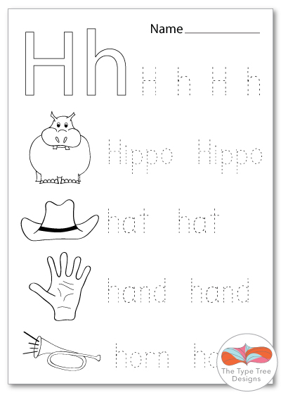ESL Letter of the Week the Letter H THE TYPE TREE DESIGNS